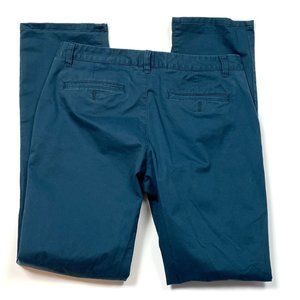 Bonobos Mens 34 x 34 Blue Dark Teal Pants Chinos